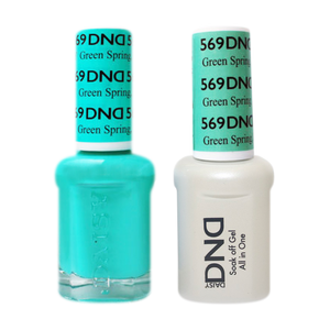 DND Nail Lacquer And Gel Polish, 569, Green Spring KY, 0.5oz