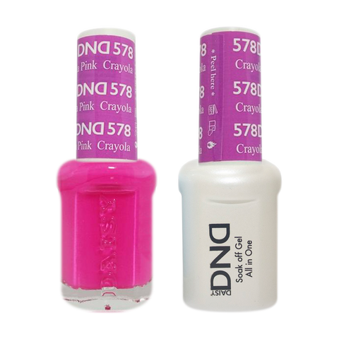 DND Nail Lacquer And Gel Polish, 578, Crayola Pink, 0.5oz