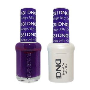DND Nail Lacquer And Gel Polish, 581, Grape Jelly, 0.5oz