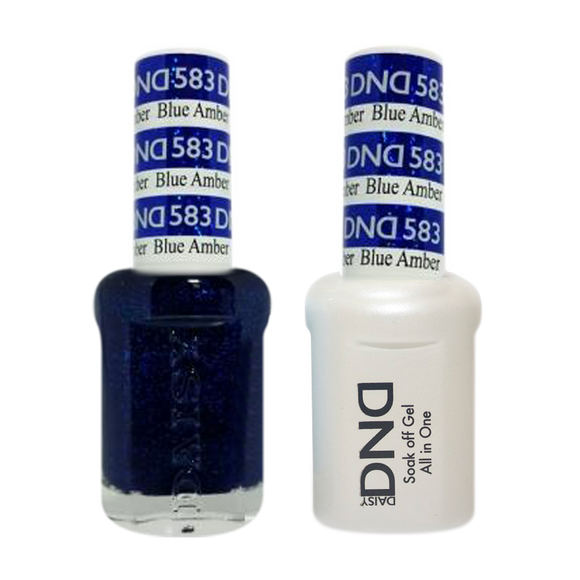 DND Nail Lacquer And Gel Polish, 583, Blue Amber, 0.5oz