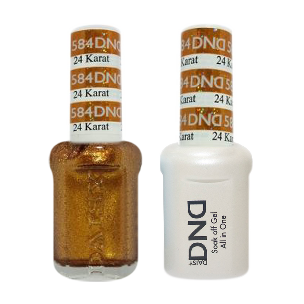 DND Nail Lacquer And Gel Polish, 584, 24 Karat, 0.5oz