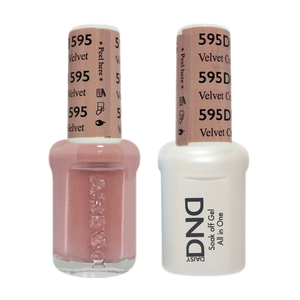 DND Nail Lacquer And Gel Polish, 595, Velvet Cream, 0.5oz