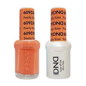 DND Nail Lacquer And Gel Polish, 609, Peachy Keen, 0.5oz