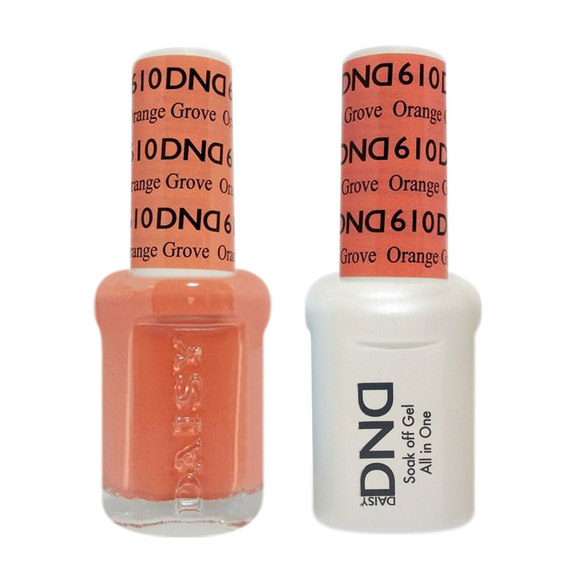 DND Nail Lacquer And Gel Polish, 610, Orange Grove, 0.5oz