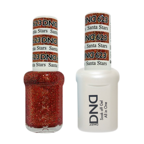 DND Nail Lacquer And Gel Polish, 623, Santa Stars, 0.5oz