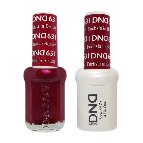 DND Nail Lacquer And Gel Polish, 631, Fuchsia in Beauty, 0.5oz