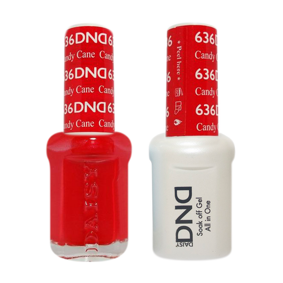 DND Nail Lacquer And Gel Polish, 636, Candy Cane, 0.5oz