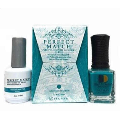 LeChat Perfect Match Nail Lacquer And Gel Polish, PMS175, Riding Waves, 0.5oz