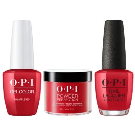 OPI 3in1, DGLN25, Big Apple Red