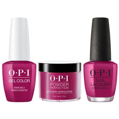 OPI 3in1, N55, Spare Me a French Quarter