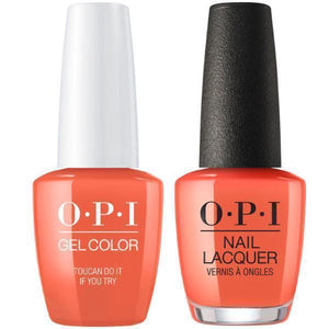 OPI GelColor And Nail Lacquer, A67, Toucan Do If You Try, 0.5oz