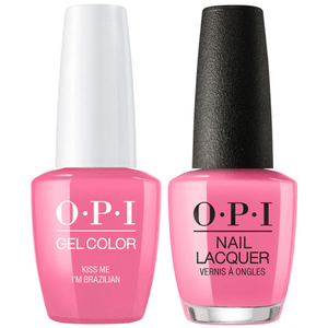 OPI GelColor And Nail Lacquer, A68, Kiss Me I'm Brazilian, 0.5oz