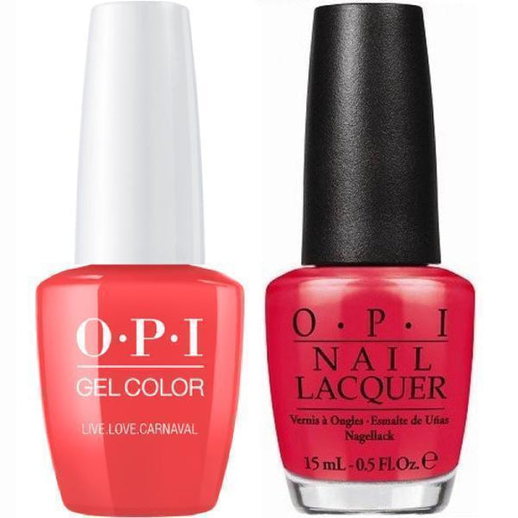 OPI GelColor And Nail Lacquer, A69, Live.Love.Carnaval, 0.5oz