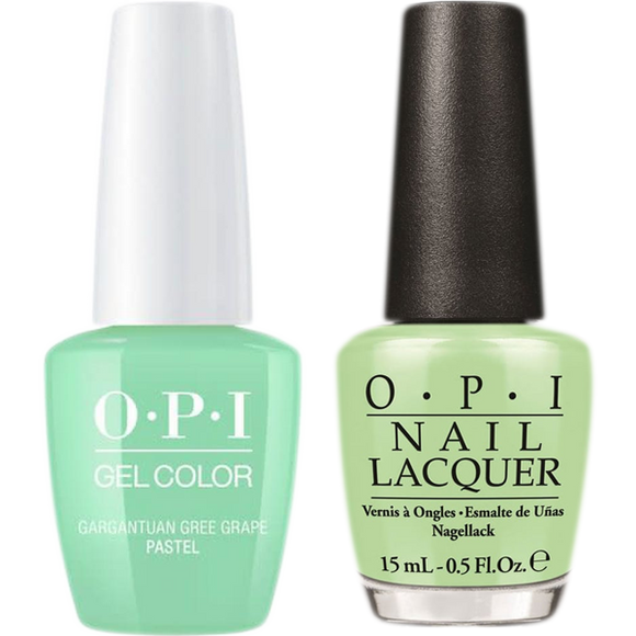 OPI GelColor And Nail Lacquer, B44, Gargantuan Green Grape, 0.5oz