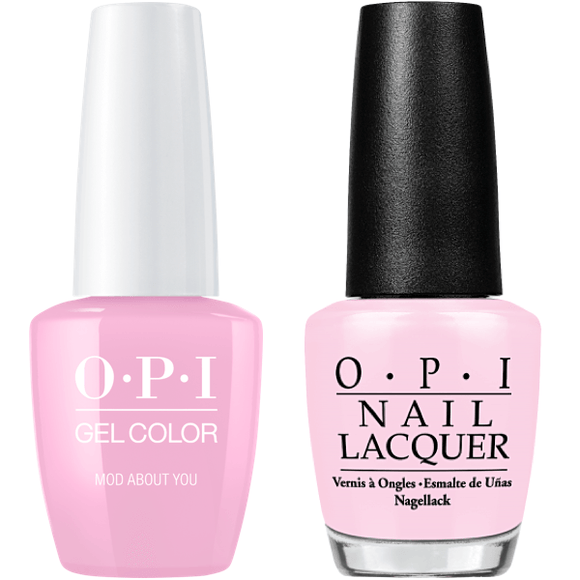 OPI GelColor And Nail Lacquer, B56, Mod About You, 0.5oz