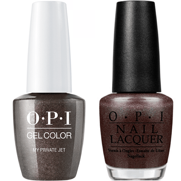 OPI GelColor And Nail Lacquer, B59, My Private Jet, 0.5oz