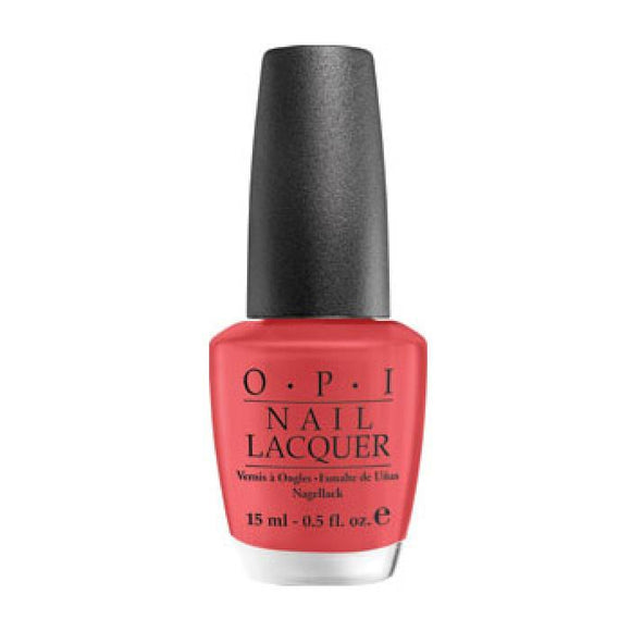 OPI Nail Lacquer, NL B75, Paint My Moji toes Red