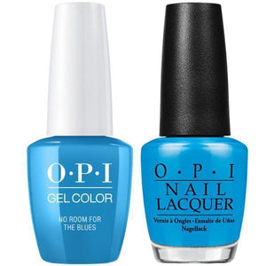 OPI GelColor And Nail Lacquer, B83, No Room For the Blues, 0.5oz