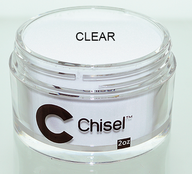 Chisel 2in1 Dipping Powder, Pink & White Collection, CLEAR, 2oz