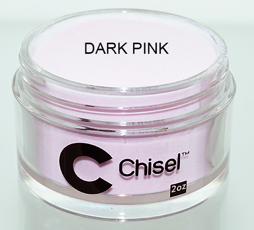 Chisel 2in1 Dipping Powder, Pink & White Collection, DARK PINK, 2oz