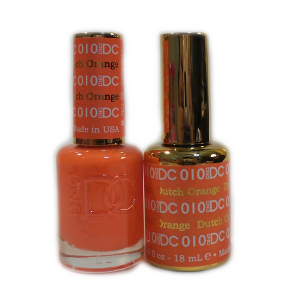 DC Nail Lacquer And Gel Polish (New DND), DC010, Dutch Orange, 0.6oz