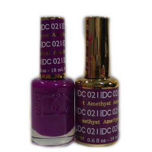 DC Nail Lacquer And Gel Polish (New DND), DC021, Amethyst, 0.6oz
