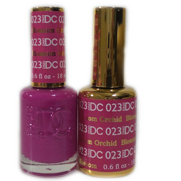 DC Nail Lacquer And Gel Polish (New DND), DC023, Blossom Orchid, 0.6oz