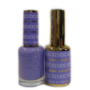 DC Nail Lacquer And Gel Polish (New DND), DC025, Aztech Purple, 0.6oz