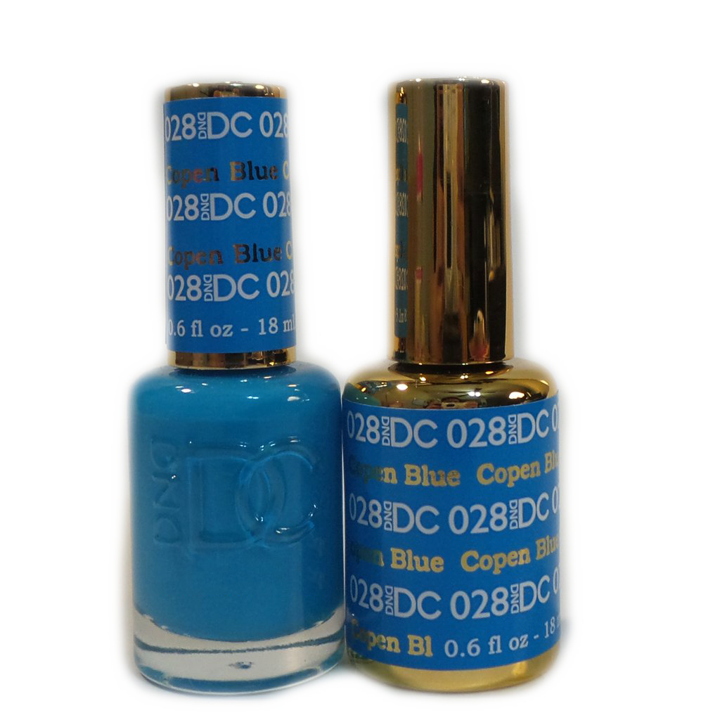 DC Nail Lacquer And Gel Polish (New DND), DC028, Copen Blue, 0.6oz