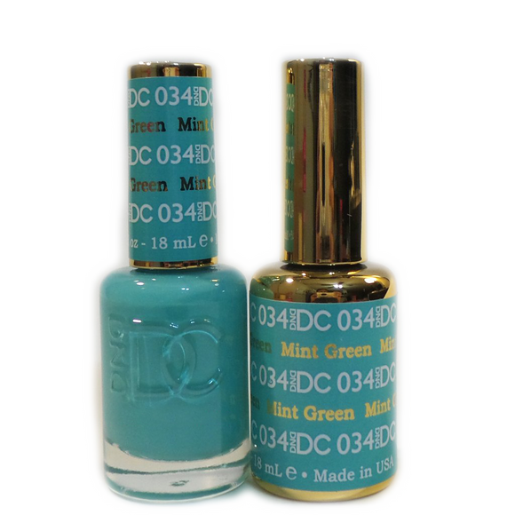 DC Nail Lacquer And Gel Polish (New DND), DC034, Mint Green, 0.6oz