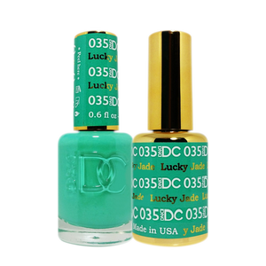DC Nail Lacquer And Gel Polish (New DND), DC035, Lucky Jade, 0.6oz