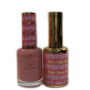 DC Nail Lacquer And Gel Polish (New DND), DC037, Terra Pink, 0.6oz