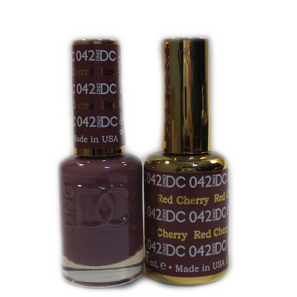 DC Nail Lacquer And Gel Polish (New DND), DC042, Red Cherry, 0.6oz