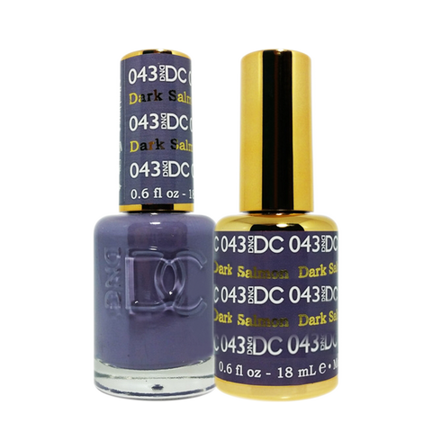 DC Nail Lacquer And Gel Polish (New DND), DC043, Darl Salmon, 0.6oz