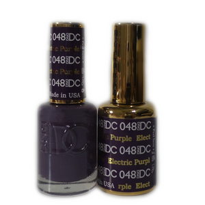 DC Nail Lacquer And Gel Polish (New DND), DC048, Electric Purple, 0.6oz