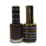 DC Nail Lacquer And Gel Polish (New DND), DC053, Spice Brown, 0.6oz