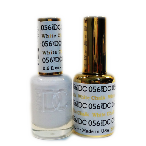 DC Nail Lacquer And Gel Polish (New DND), DC056, White Chalk, 0.6oz