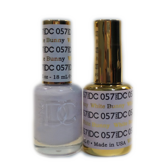 DC Nail Lacquer And Gel Polish (New DND), DC057, White Bunny, 0.6oz