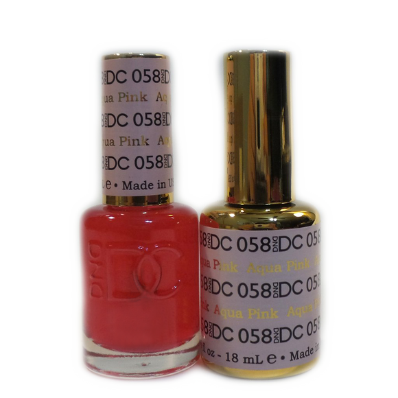 DC Nail Lacquer And Gel Polish (New DND), DC058, Aqua Pink, 0.6oz
