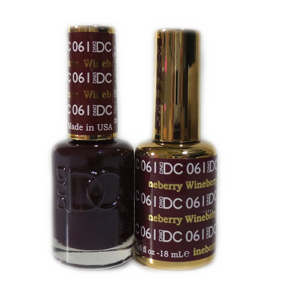 DC Nail Lacquer And Gel Polish (New DND), DC061, Wineberry, 0.6oz
