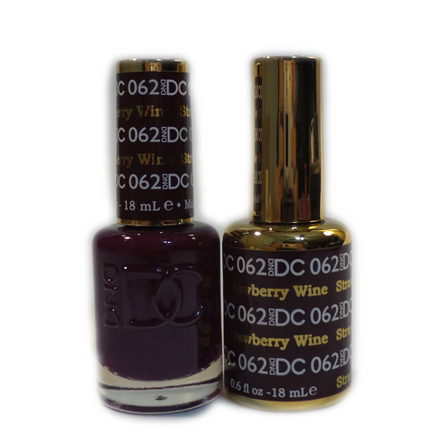DC Nail Lacquer And Gel Polish (New DND), DC062, Strawberry Wine, 0.6oz