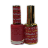 DC Nail Lacquer And Gel Polish (New DND), DC065, Thai Chilli Red, 0.6oz