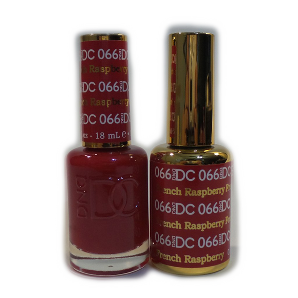 DC Nail Lacquer And Gel Polish (New DND), DC066, French Raspberry, 0.6oz