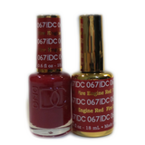 DC Nail Lacquer And Gel Polish (New DND), DC067, Fire Engine Red, 0.6oz