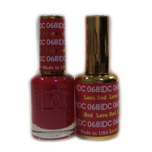 DC Nail Lacquer And Gel Polish (New DND), DC068, Lava Red, 0.6oz