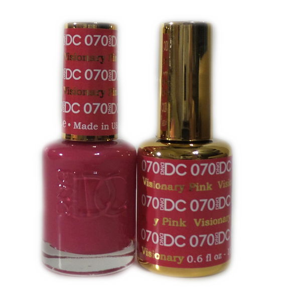 DC Nail Lacquer And Gel Polish (New DND), DC070, Visionary Pink, 0.6oz