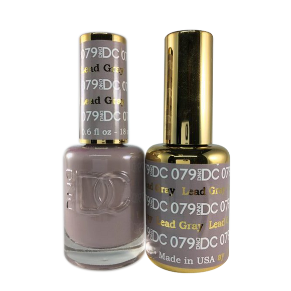 DC Nail Lacquer And Gel Polish (New DND), DC079, Lead Gray, 0.6oz