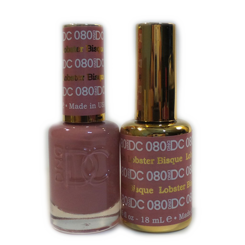 DC Nail Lacquer And Gel Polish (New DND), DC080, Lobster Bisque, 0.6oz