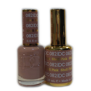 DC Nail Lacquer And Gel Polish (New DND), DC082, Shell Pink, 0.6oz