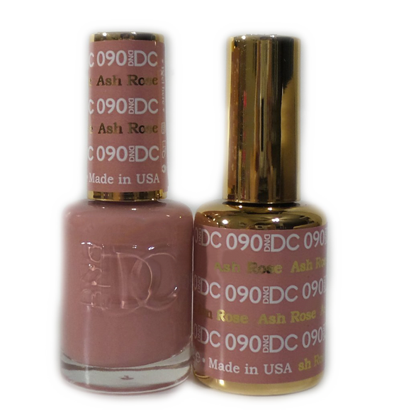 DC Nail Lacquer And Gel Polish (New DND), DC090, Ash Rose, 0.6oz